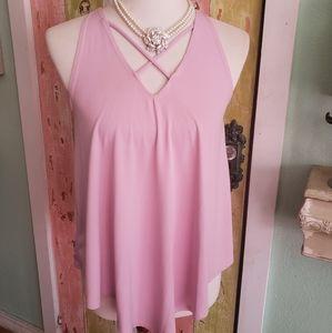 Top Fashion NY bubblegum sleeveless top